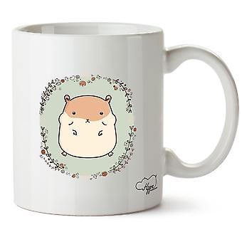Hippowarehouse söt Hamster tryckt mugg kopp keramik 10oz