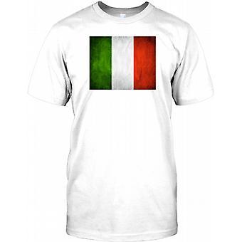 Italienska Grunge flagga - Italien barn T Shirt