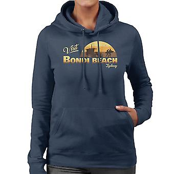 Visit Bondi Beach Retro Beach Women's Hooded Sweatshirt