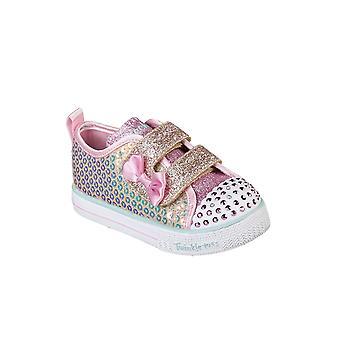 Kids Girls Infants Skechers Shuffle Lite Mini Mermaid Twinkle Toes Shoes