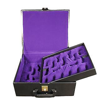 Delux Black Vinyl Chess Box