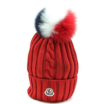 Moncler Red Wool Hat