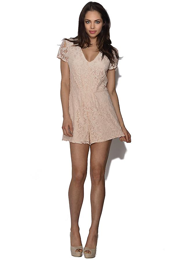LOVE Lace Plunge V-hals Playsuit