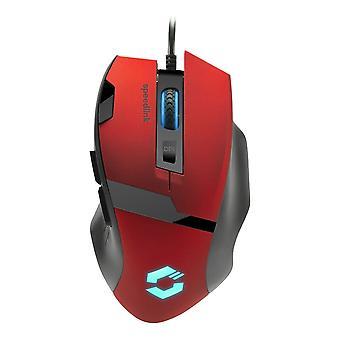 Speedlink Vades Gaming Mouse Illuminated USB 2400 dpi-Red (SL-680014-BKRD)