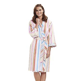 Feraud 3191333-16397 Women's High Class Multicolour Stripe Cotton Robe Loungewear Bath Dressing Gown
