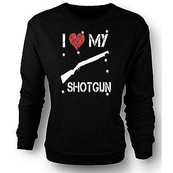 Womens Sweatshirt  I Love My Shotgun