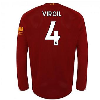 2019-2020 Liverpool Home Long Sleeve Shirt (Virgil 4)