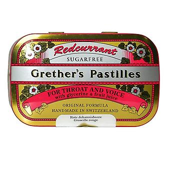 Grether's Redcurrant Pastilles Sugar Free 110g