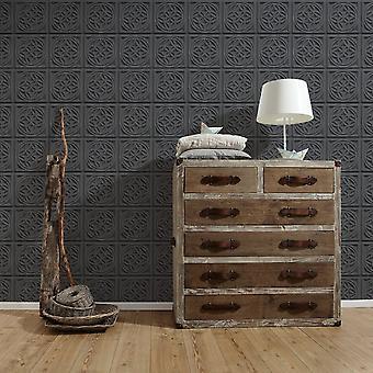 A.S. Creation AS Creation Oslo Tile Pattern Wallpaper Faux Effect Art Deco Kitchen Bathroom 329801