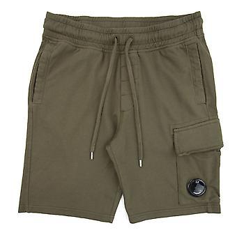 CP Company Lens Sweat Shorts Khaki 672