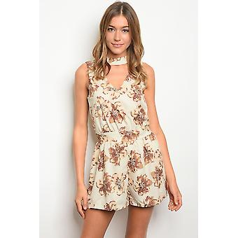 Stone floral romper