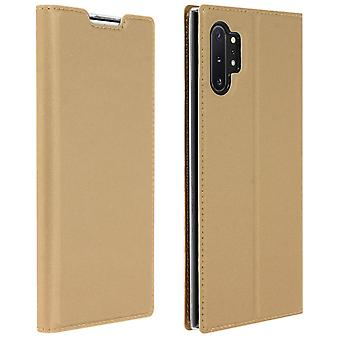 Slim flip wallet case, Business series for Samsung Galaxy Note 10 Plus - Gold
