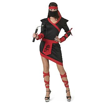 Ninja Donna Costume Fighter Giappone Spy Carnevale Carnevale Costume Signore
