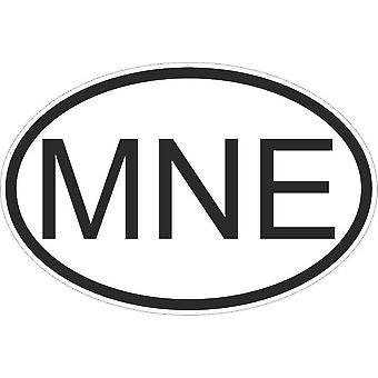 Autocollant Sticker Drapeau Oval Code Pays Voiture Montenegro Montenegrin Mne