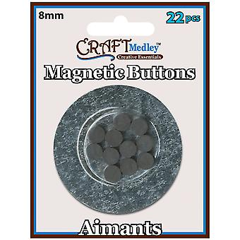 Magnetic Buttons On Mirror 8Mm 22 Pkg Mcmt 038
