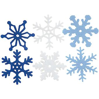 Medium Felt Snowflakes 36 Pkg Winter Ci63000