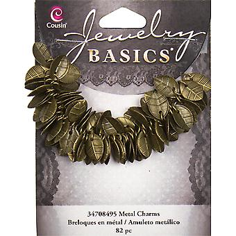 Jewelry Basics Leaf Charms 115 Pkg Gold 34708495