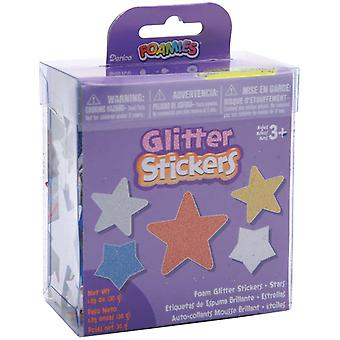 Foam Glitter Stickers 1.05 Ounces Stars 106Bkt 1222