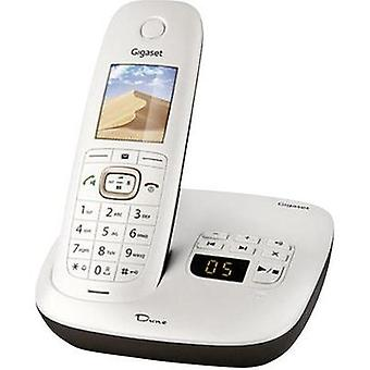 Cordless analogue Gigaset DUNE CL540A Answerphone, Babyphone, Headset connection Pearl-white, Brown