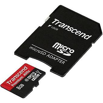 microSDHC card 8 GB Transcend Class 10, UHS-I Incl. SD adapter