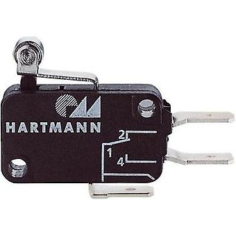 Microswitch 250 Vac 16 A 1 x On/(On) Hartmann 04G01C06B01A momentary 1 pc(s)