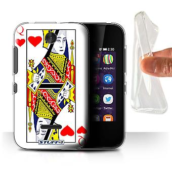 STUFF4 Gel/TPU/housse pour Nokia Asha 230/Queen of Hearts/jeu de cartes