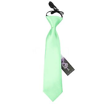 Boy's Plain Mint Green Satin Pre-Tied Tie (2-7 years)