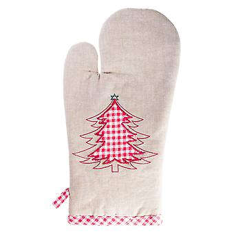 Merry Christmas' Kitchen Serving Oven Glove Mitt with Christmas Tree