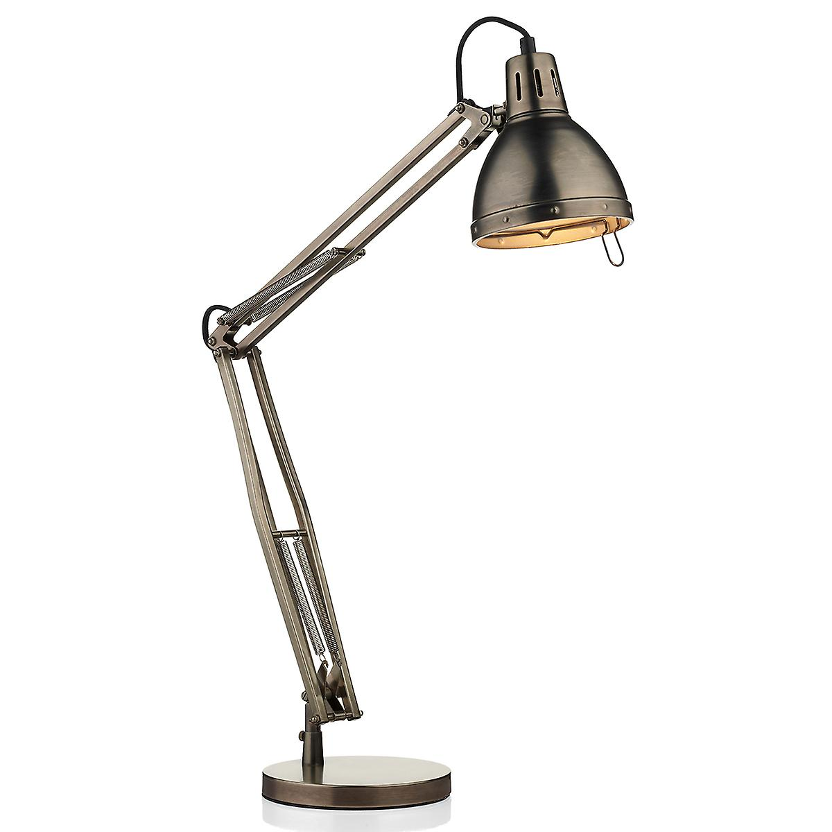 Dar OSA4061 Osaka Adjustable Table Lamp In Antique Chrome