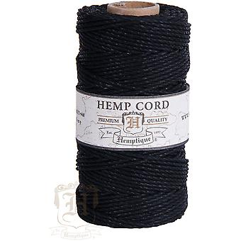 Hemp Cord Spool 48lb 205'-Black HS48CO-BLK