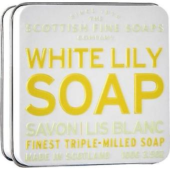 Scottish Fine Soaps White Lily Soap Tin