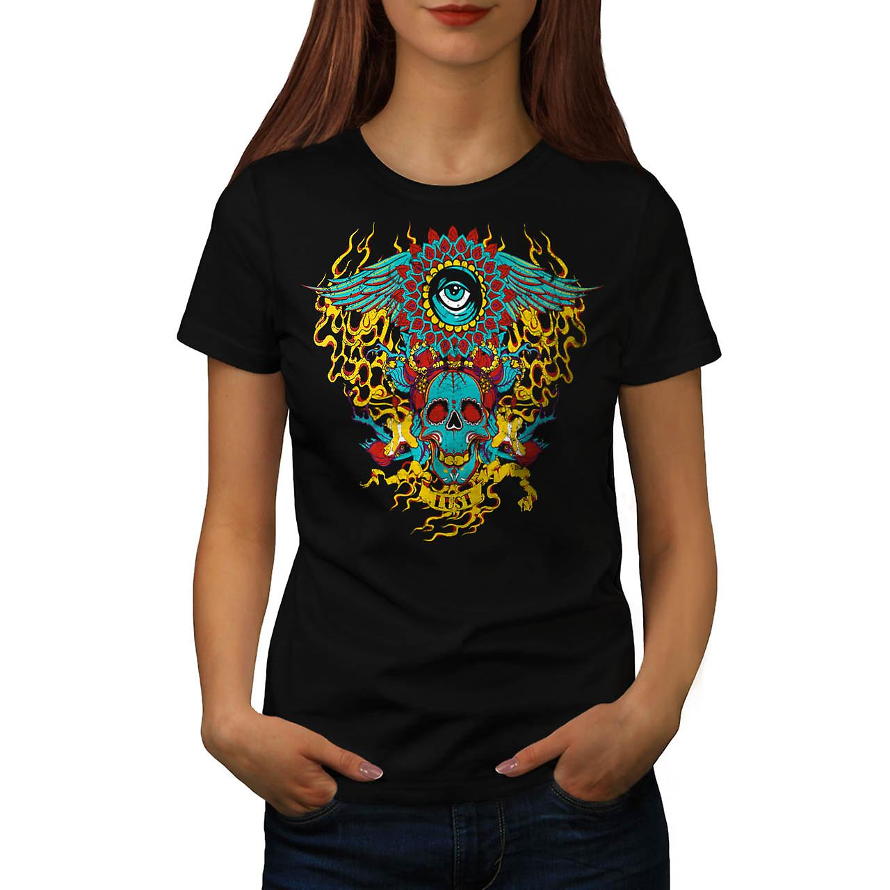 Lust Devil Demon Lair Satan Hell Women Black T-shirt | Wellcoda