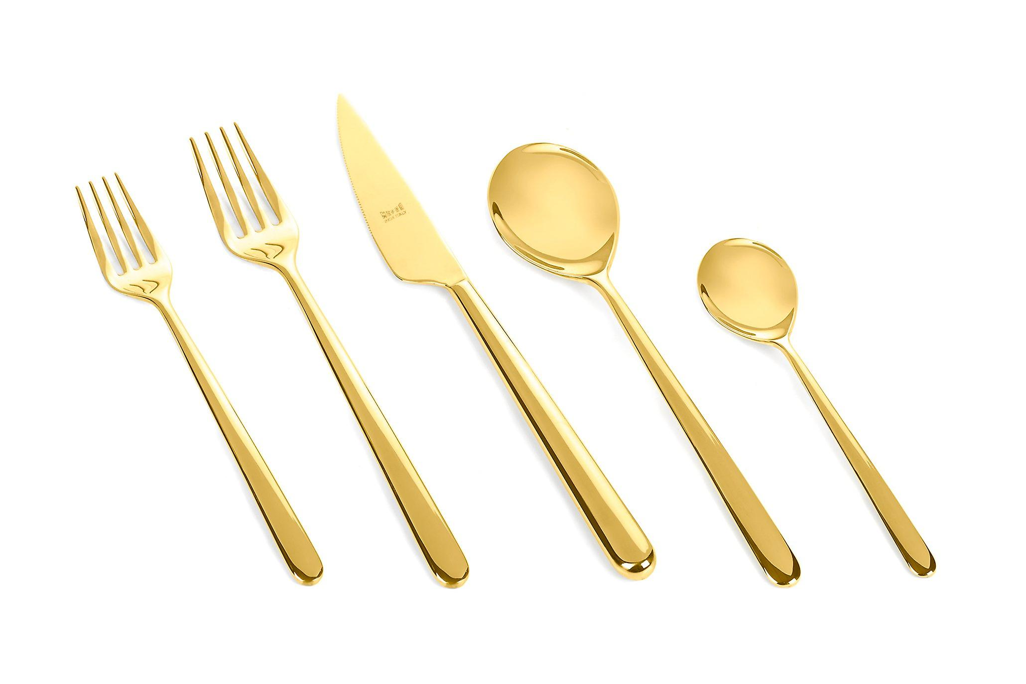 Mepra Linea Oro 5 pcs flatware set