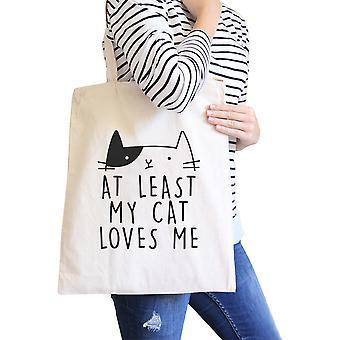 In ieder geval mijn kat Loves Me minnaars van de kat van het ontwerp van het Cute Cat van natuurlijke Eco-tas
