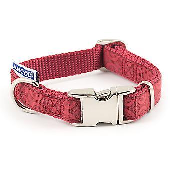 Indulgence Nylon Adjustable Collar Red 30-50cm Sz 2-5