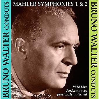 Bruno Walter - Mahler: Symfonier nr. 1 & 2 [CD] USA import