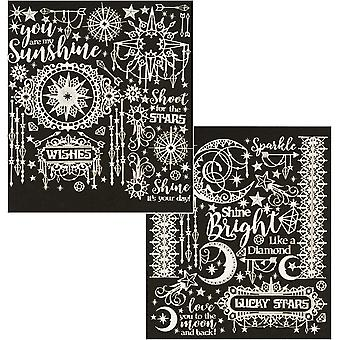 Dazzles Stickers-Twilight Jewels-Silver Pearl DAZ-2843