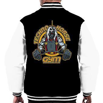 Techno hest Gym Bravestarr mænds Varsity jakke