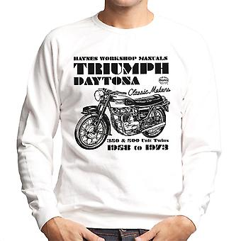 Haynes ejere Workshop Manual Triumph Daytona 350 500 mænds Sweatshirt