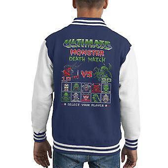 Ultimate Monster Death Match Darkness vs Cthulhu Kid's Varsity Jacket