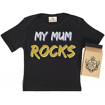 Spoilt Rotten My Mum Rocks Babys T-Shirt 100% Organic In Milk Carton