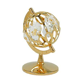 Glass globe gold-plated crystal glass globe, with glass stones