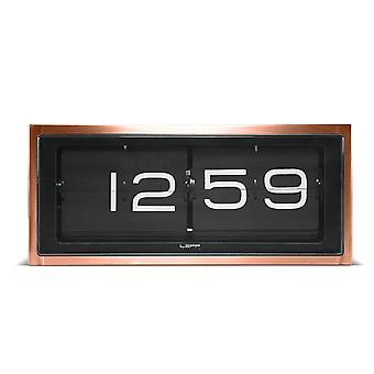 LEFF Amsterdam 36 x 15.7 x 12.8 cm Case Wall/ Desk Clock Brick Clock 24 hr, Copper