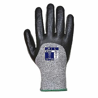 Portwest - 1 Pair Pack Cut 5 Resistant 3/4 Nitrile Foam Hand Protection Glove