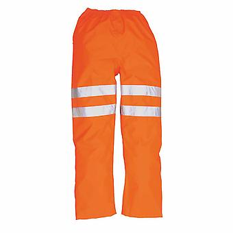 Portwest - Hi-Vis Safety Workwear Rail Track Side Traffic Trousers