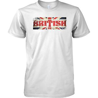 British Grunge Country Name Flag Effect - Union Jack - Kids T Shirt
