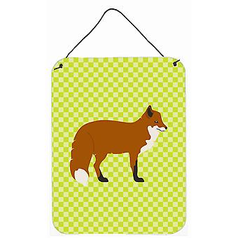 Carolines Treasures  BB7702DS1216 Red Fox Green Wall or Door Hanging Prints