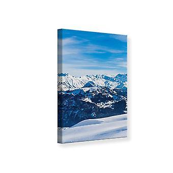 Canvas Print Snowy Ridge