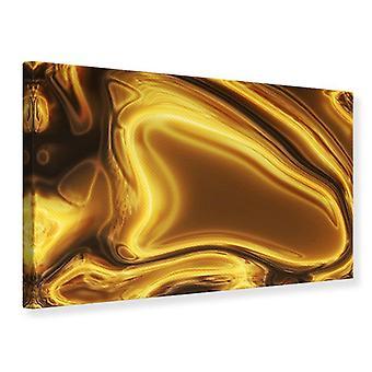 Lærred Print abstrakt flydende guld