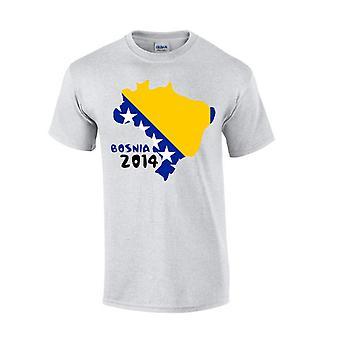 Bosnia 2014 land flagg T-shirt (grå)